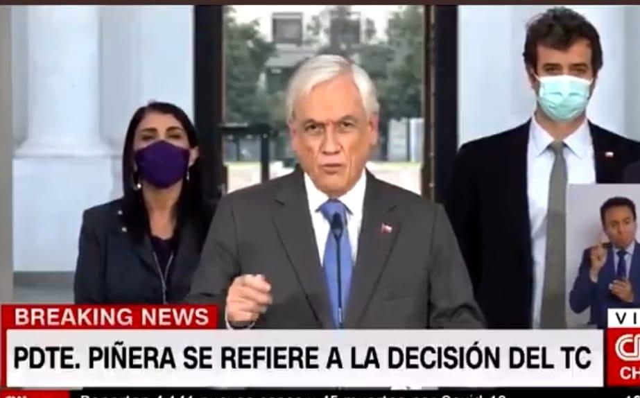 DERROTA POLÍTICA! Piñera PROMULGARÁ tercer retiro del 10% tras RECHAZO del TC a su reclamación