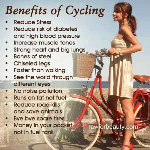Health benefits of biking - why ride a bike - bycycling for fitness