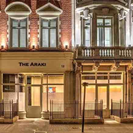 ARAKI Restaurant London Fit-out Works competion photos