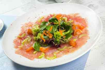 Carpaccio ton apio cherry