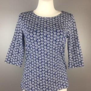 Heidekönigin-3/4Arm-Shirt-tinte- Biobaumwolle