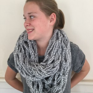 Variation #481 of Luscious Arm Knitted Infinity Scarf