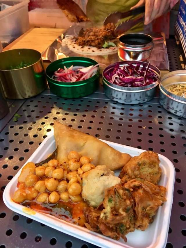 Haigh foodie Friday review Vegan thali in a polystyrene tray