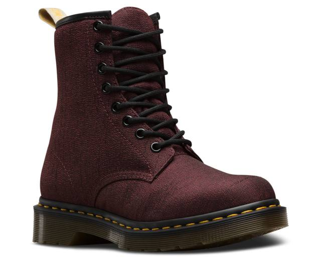 Winter boots cherry red lace up doc martens