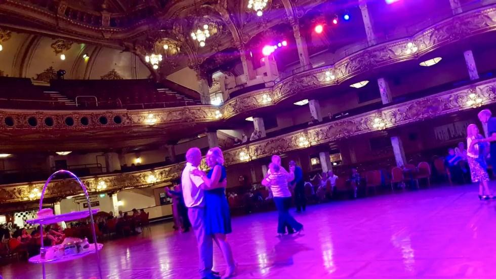 Blackpool Tower Ballroom couples dancing