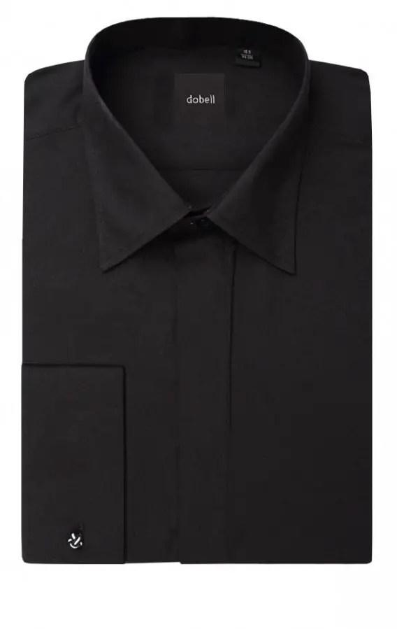 Men's gift ideas a plain black shirt folded up