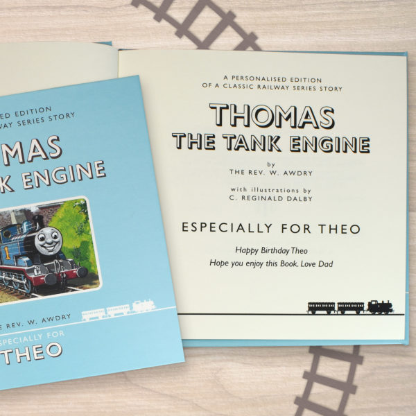 children's gift guide personalised thomas book