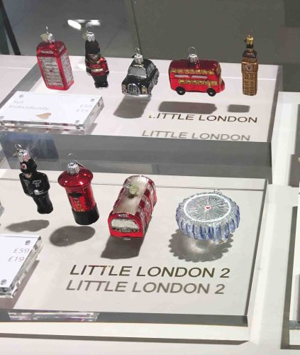 Little London John Lewis Christmas ornaments