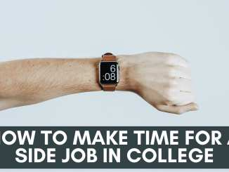 how to make time for a side job in college