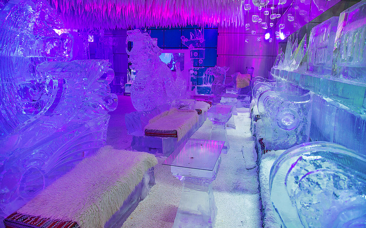 Chillout Ice Lounge  Middle Easts first sub zero lounge