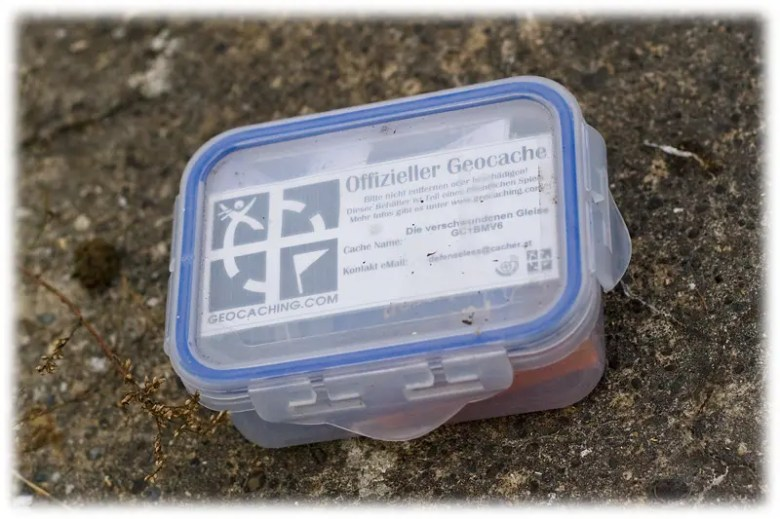 Geocache Plastikdose