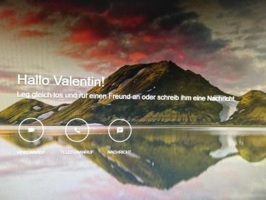 Virtuelles Treffen mittels Google Hangout.