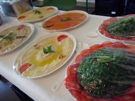 Arabische Köstlichkeiten zum Mittagessen.