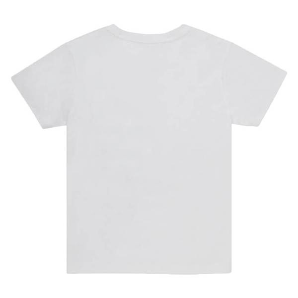Kids White Crew T-shirt Back View