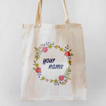 Floral Wreath Tote-bag