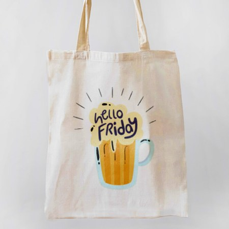 Hello Friday Tote-bag