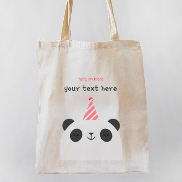 Hello Panda Canvas Tote-bag Freesize, Custom our iTee template and make it yours. Product View