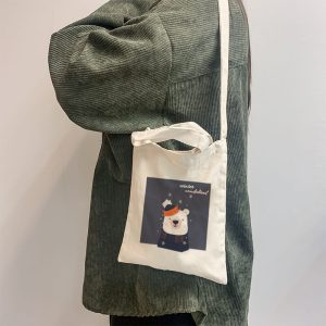 Winter Wonderland Mini Canvas Tote-bag, Custom our iTee template and make it yours. Model View