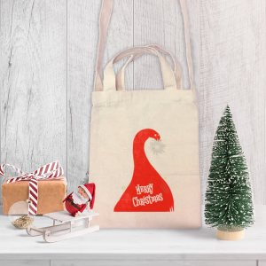 Where's Santa? Mini Canvas Tote-bag, Custom our iTee template and make it yours. Product View