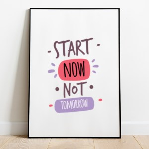 Start now not tomorrow Tote-bag Thumbnail, Custom our iTee template and make it yours.