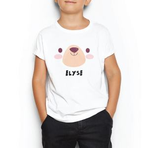 Custom your My Bear Cuddle White T-shirt Template, Boy Model View