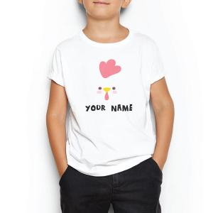 Custom your Cluck Cluck Chicken White T-shirt Template, Boy Model View