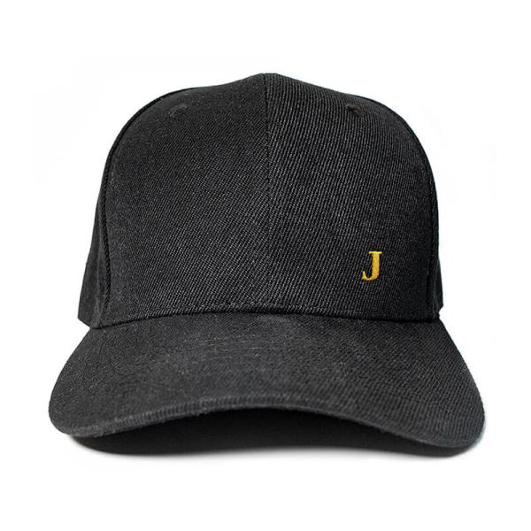 Create your initial in Black Embroidered Cap, Custom our iTee template and make it yours. Product View