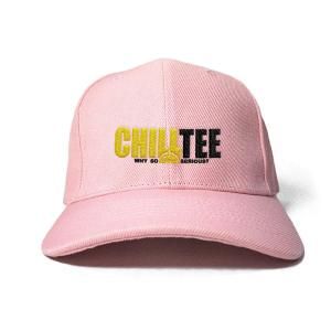 ChillTee Logo in Baby Pink Embroidered Cap, Custom our iTee template. Product View