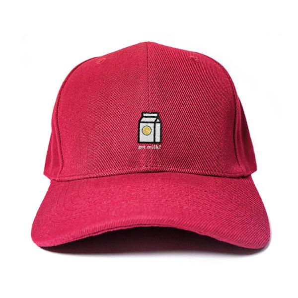 Got Milk! in Wine Red Embroidered Cap, Custom our iTee template and make it yours. Product View