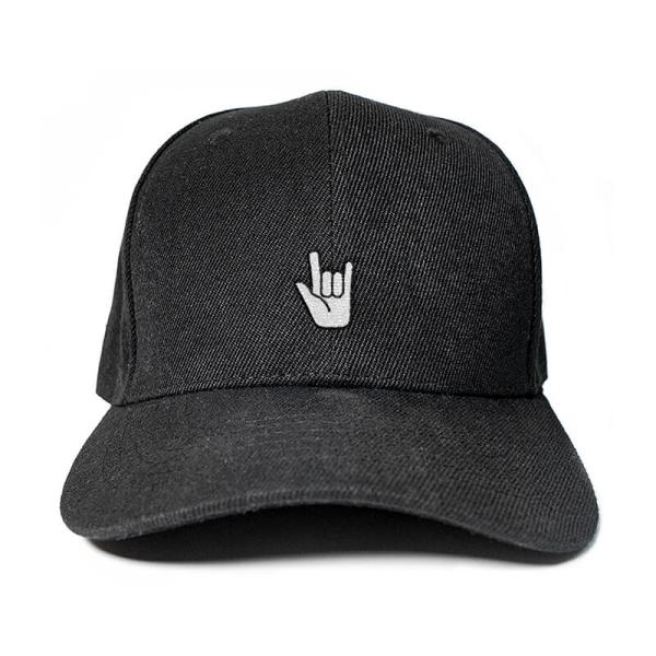 Let's Rock and Roll in Black Embroidered Cap, Custom our iTee template and make it yours. Product View