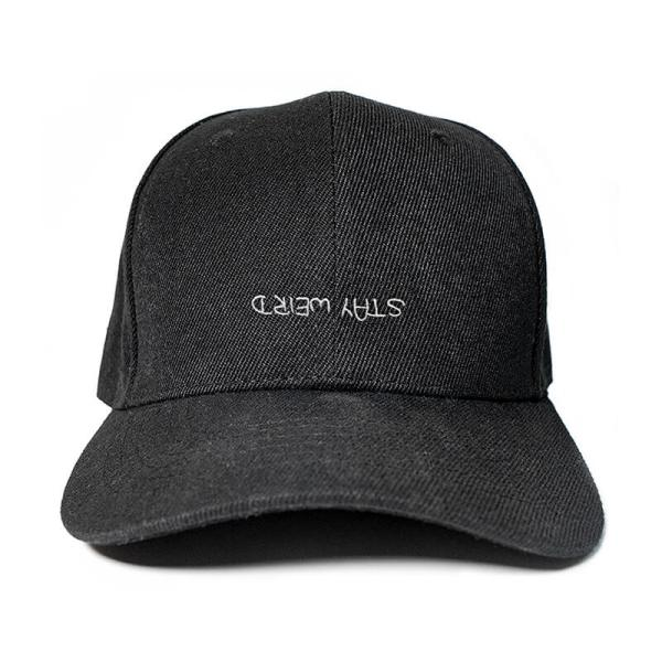 Stay Weird in Black Embroidered Cap, Custom our iTee template and make it yours. Product View