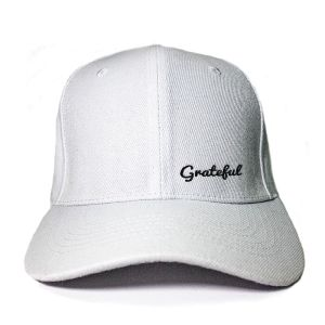 Grateful in White Embroidered Cap, Custom our iTee template and make it yours. Product View
