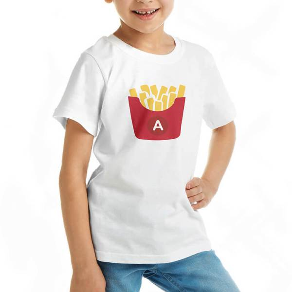 Custom your Gimme French Fries White T-shirt Template, Girl Model View