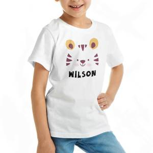 Custom your Tiger Roar Roar White T-shirt Template, Girl Model View
