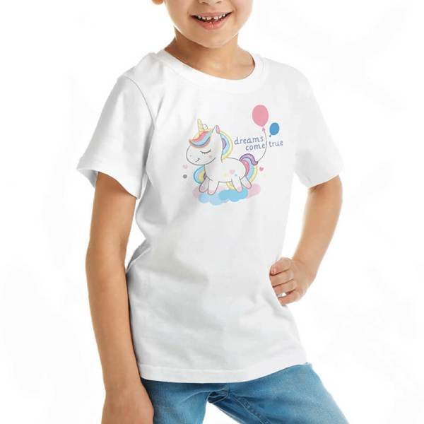 Custom your I want a unicorn White T-shirt Template, Girl Model View