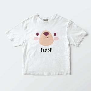Custom your My Bear Cuddle White T-shirt Template, Front Product View