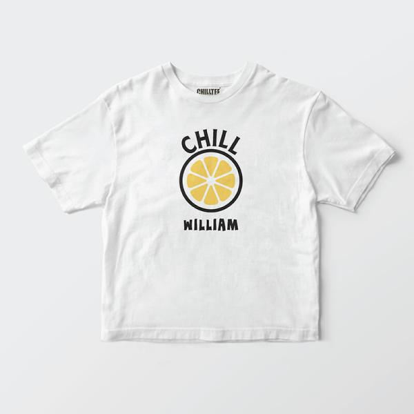 Custom your My Chill Lemon White T-shirt Template, Front Product View