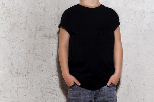 kids crew t-shirt black