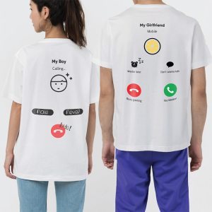 Custom your Hello! I'm Calling You White Unisex Crew T-shirt Template, Model