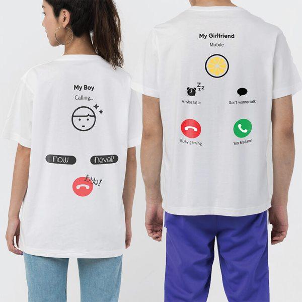 Custom your Hello! I'm Calling You White Unisex Crew T-shirt Template, Model