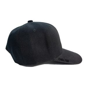 Custom and Embroider your Black Kids Cap Right Side View