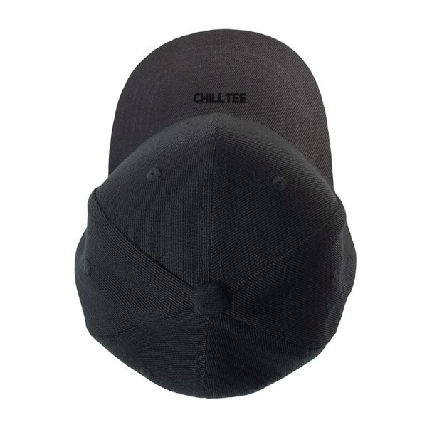 Custom and Embroider your Black Kids Cap Top Side View