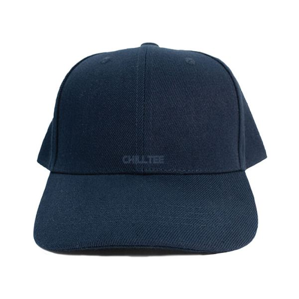Custom and Embroider your Navy Kids Cap Front Side View