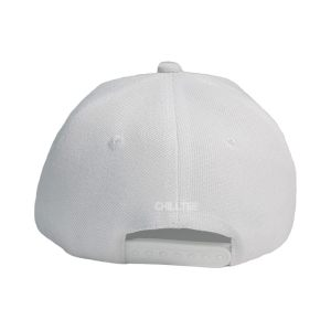 Custom and Embroider your White Kids Cap Back Side View