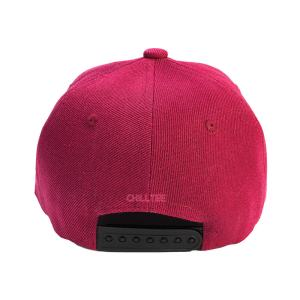 Custom and Embroider your Wine Red Kids Cap Back Side View