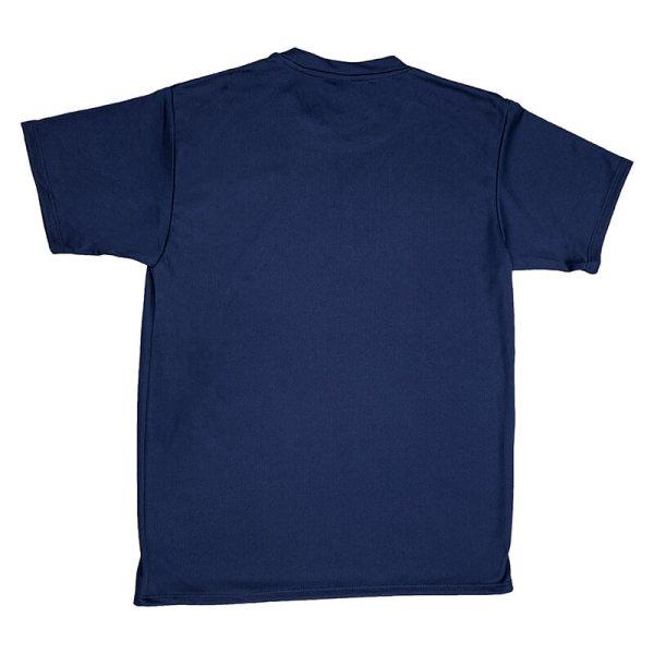 Unisex Navy Mesh T-shirt Back View