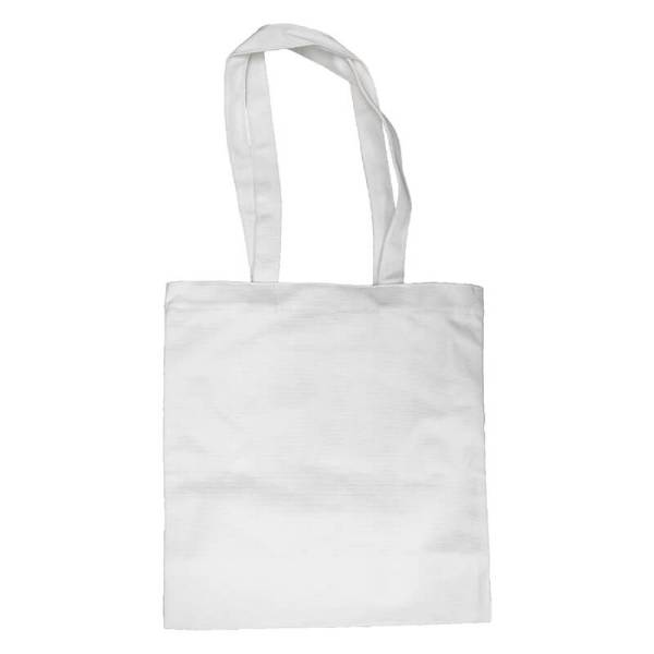 Custom your White Long Strap Tote-bag, Back View