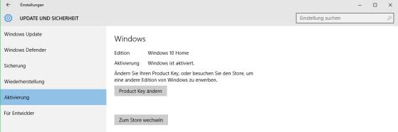 Windows 10 Aktivierung