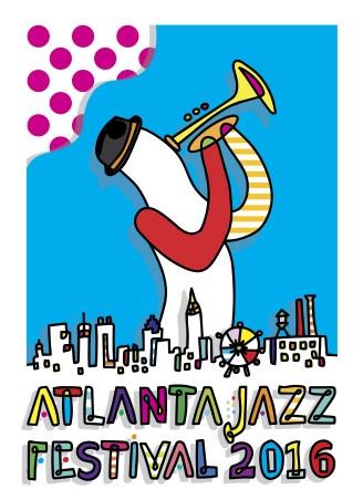 2016 Atlanta Jazz Festival Poster