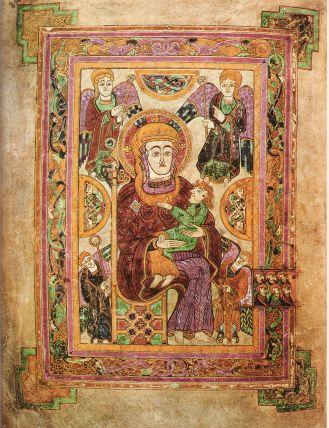 Σελίδα απεικονίζουσα την Παρθένο Μαρία με το Θείο Βρέφος